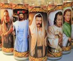 Give praise to the true god(s) of the universe with these pop culture religious candles. Lighting the candles activates the magically blasphemous powers endowed to entertainers of great caliber like Walter White, Ron Swanson, and Bill Fuckin' Murray.