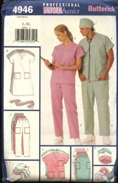 SCRUBS-Patterns (Keep Clicking)  I liked the 5 top sewing patterns for scrubs one.