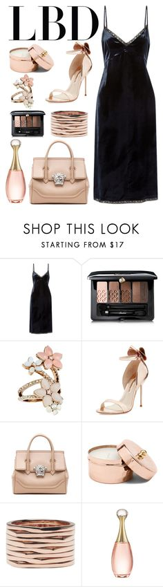 """""""LBD"""" by stranjakivana ❤ liked on Polyvore featuring Prada, Guerlain, Accessorize, Sophia Webster, Versace, Repossi, Christian Dior and LBD"""