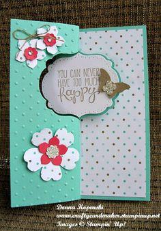 February Blog Hop brown. Flip card.