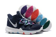 a9d7b22779db Nike Kyrie 5 Multi-Color Metallic Silver AO2918 900 Men s Basketball Shoes  Irving Sneakers NIKE014176