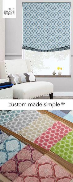Custom Made Simple - Roman Shade - Sanganer