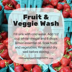 essential oil fruit & veggie wash (click image for lots more ideas and tips for using essential oils)