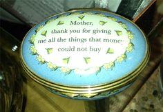 "Halcyon Days Enamel Exclusive ""Mother"" Trinket Box | eBay"