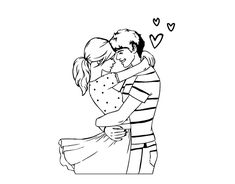 Dibujo de Pareja enamorada para colorear