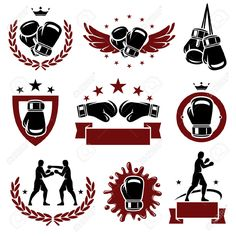 boxing gloves silhouette - Google Search