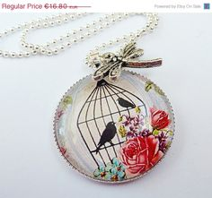 Motiv Halskette mit Vogelkäfig runde Halskette von Schmucktruhe, €15.12