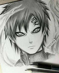 Ga'ara - from Naruto Naruto Gaara, Anime Naruto, Gara Naruto, Sasuke Sakura, Shikamaru, Naruto Drawings, Naruto Sketch, Anime Drawings Sketches, Anime Sketch