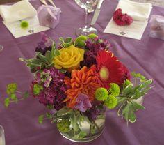 Summer Wedding Flower Centerpieces | summer centerpiece