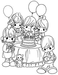 Coloring Pages precious moments Coloring People Pinterest