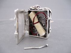 Treasure Locket Box in Fine Silver Metal Clay by JaneFont, via Flickr