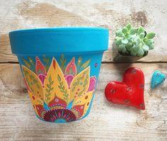 Made To Order Succulent Planter Painted Plant Pots, Painted Flower Pots, Painted Pebbles, Flower Pot Art, Flower Pot Design, Pots D'argile, Clay Pots, Flower Pot People, Pottery Painting Designs