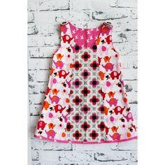freebook . Schnitt . Kleid aus Baumwollstoff . Gr. 80-122
