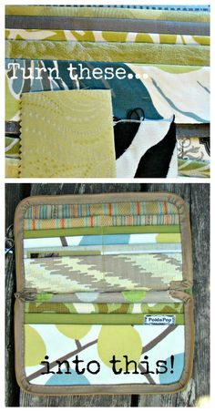 ReFab Diaries: Upcycle: Fabric scraps into a zippered wallet! Sewing Tutorials, Sewing Crafts, Sewing Projects, Diy Crafts, Sew Wallet, Fabric Wallet, Diy Purse, Michael Kors, Diy Projects To Try