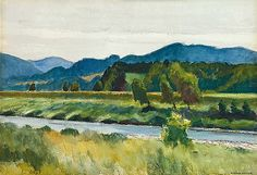 Edward Hopper (1882-1967), Chuva no Rio, de 1938.
