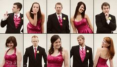 Such an awesome idea to have each bridesmaid and each groomsman pose