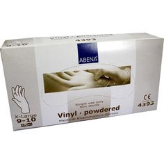 VINYL Handschuhe x-large:   Packungsinhalt: 100 St Handschuhe PZN: 01413017 Hersteller: ABENA GmbH Preis: 4,55 EUR inkl. 19 % MwSt. zzgl.…