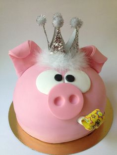 Pig Cake How Cute For My Little Sweeties Cake Pig Birthday