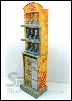 Tequila Wood Display Spirits Display Alcohol Display   Custom made by www.sharndisplays.com