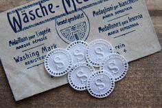6 pièces monogramme brodé anciennes lettre S