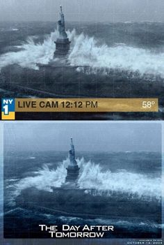 high waves of Statue of Liberty - Hurricane Sandy fake photos goes viral on internet