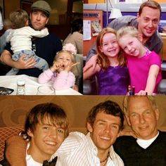 NCIS men with their kids