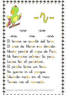 ESOS LOCOS BAJITOS DE INFANTIL: CARTILLA DE LECTURA Spanish Grammar, Spanish Class, Teaching Spanish, Spanish Language, Learn Spanish, Speech Language Therapy, Speech And Language, Speech Therapy, Calligraphy Letters