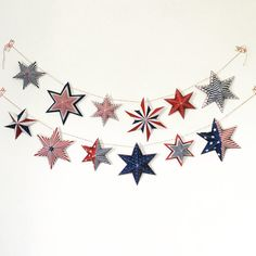 4th of July Banner 4th of july decorations Printable 4th of july garland, patriotic decor, red white and blue garland.