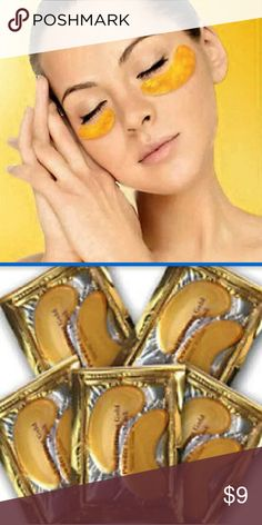 Crystal Collagen Gold eye mask Eliminates dark circles and fine lines- 100% Collagen and other minerals present within the eye mask, speed-up cell and collagen rejuvenation. This increase in the elasticity in the eye contour while reducing eye bags , dark circles and fine lines.?For firm and sparkling eye contour?  Another product I use myself!  Takes care of my eyebags.  Once or twice a week! Leave on for an hour or more for best results!  I leave them on while I sleep!! Makeup