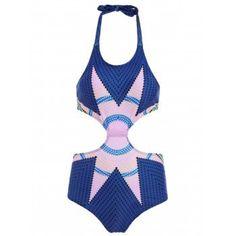 93db6502e8 Halter Zig Zag One Piece Swimsuit For Women  OnePieces  Fashion  Womens   Women