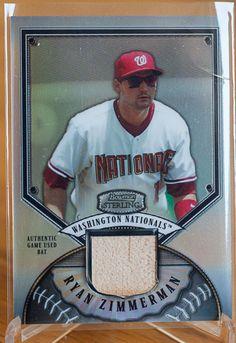 Ryan Zimmerman Washington National 2007 Bowman Sterling Bat Refractor Card - Baseball Cards of the Month Club