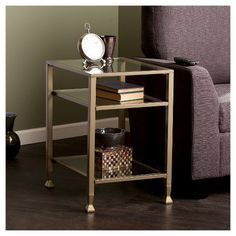 metal end table as nightstand