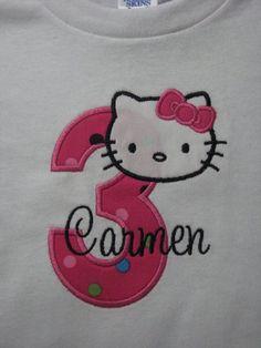 Personalized Hello Kitty Birthday Shirts