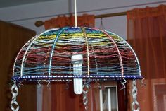 lampadario perline