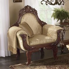 Carved Oversize Chair from Midnight Velvet® | VI71298