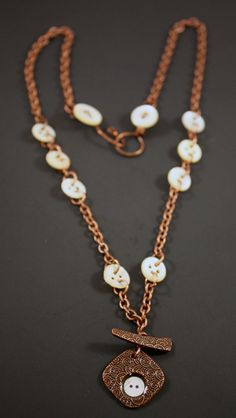 fae74401058a3 Mother Copper Necklace by CraftyHope.  40.25
