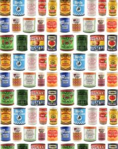 Miniature Printables - Old Canned Food Labels.