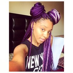 afro hair, afro hairstyle, black girl with colorful hair, box braids, inspiration, black womens