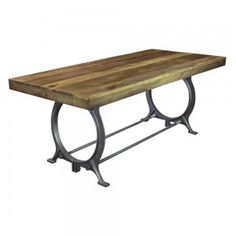 Dennis Reclaimed Wood Dining Table joss and main Glenda dining table Reclaimed Kitchen, Reclaimed Wood Dining Table, Metal Dining Table, Dining Table In Kitchen, Dining Set, Table Bench, Dining Tables, Furniture Sale, Dining Furniture