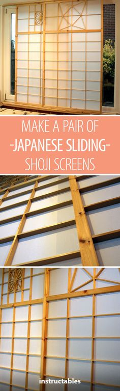 Make a Pair of Shoji (Japanese Sliding) Screens #woodworking #decor #home