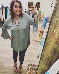YES please  @kdanna_  is wearing our amazing denim (also comes in blush) keyhole neck top....fab paired with skinnies or cut off shorts! Layer up that jewelry for a #oneofakind #musthave summer outfit!  Sizes XL-3XL! Stop and see us or give us a call to order/ship! . . 1030-530 200 Bell Lane WM 318.884.7467 #thefleurtygingerboutique #northlouisianasplussizeheadquarters #shoplocal #shoptfgb #somanyoptions #sweetsummertime #stayclassy #kindnessmatters #notwoalike #believethat #modelstatus…
