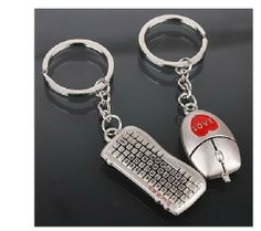 Free Shipping Christmas Gift  high quality Car key chain ring key chain cool computer mouse