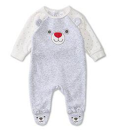 e7f39e07b Pijama para bebé de terciopelo Bebés Ver todo en gris claro jaspeado – al  mejor precio en C&A