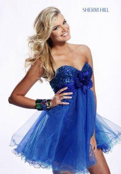 Short Blue Dress !