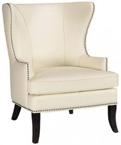 Just bought a wing back chair similar to this one for our bedroom, only ours is tufted.  I feel like I'm on a throne when sitting on this!