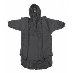 Black Snugpak 92286 One Size Fits All Waterproof Poncho W/Hood