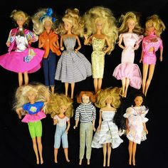 We are pleased to present you a vintage 11 piece lot of Dolls made by Mattel, Inc. Description from ebay.com.sg. I searched for this on bing.com/images