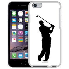 Apple iPhone 6 Silhouette Golf Player on White Case