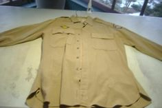Vintage WWII Army Military US Officers Lt Uniform 5th Air Force Shirt Pants 2-4