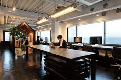 窓越しに小石川植物園の緑が広がる――DODO DESIGNのオフィス | ブレーン 2016年2月号